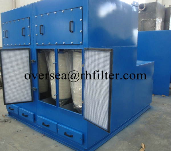 Vertical Cartridge Dust Collector # Mobile